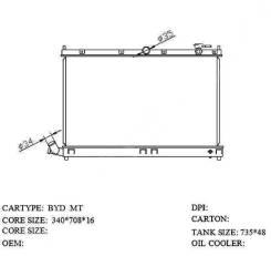 Радиатор охлаждения двигателя. BYD F3 BYD Flyer