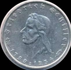 2 марки 1934 года. Шиллер. Серебро. Под заказ!