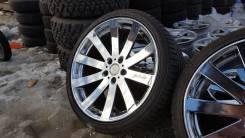 Комплект шикарных хром дисков R19 Venerdi с резиной. 8.5/9.5x19 5x114.30 ET35/38 ЦО 73,0мм.