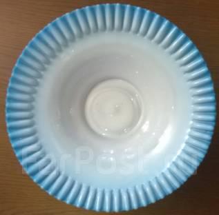 Конфетница. Молочное стекло до революции. Молочная синь. Оригинал. Под заказ