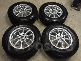 R16 диски Bridgestone Eco Forme + 215/70R16 остаток 90%(ЗИМА)№M-KO19.7. 6.5x16 5x114.30 ET38