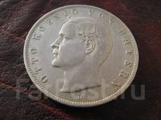Германия, Бавария, 3 марки 1908 ( D). Оригинал ! Серебро