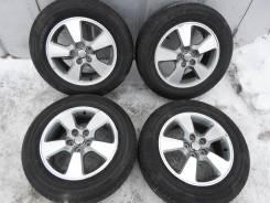Отличные летние шины Бриджстоун 195/65 R15 на литье Тойота Вишь 5/100. 6.0x15 5x100.00 ET45