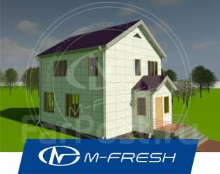 M-fresh Mister Fffffred (Посмотрите проект простого дома! ). до 100 кв. м., 2 этажа, 4 комнаты, каркас