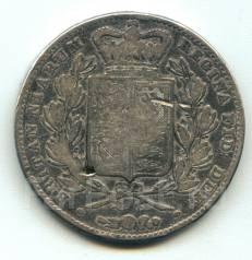 Англия крона 1844 Victoria Серебро
