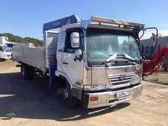 Nissan Diesel UD. Бортовой с манипулятором, 9 200 куб. см., 5 000 кг.