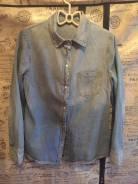 Рубашки джинсовые. 42, 44