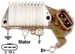 Регулятор напряжения 27700-66040, 27700-11020, 27700-11080 Toyota Corolla, EE107