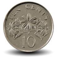 10 центов 2003 года - Сингапур - Жасмин
