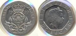 Великобритания 20 пенсов, 1999