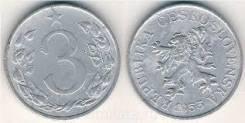 Чехословакия 3 геллера, 1953
