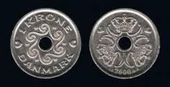 1 крона 2002 Дания