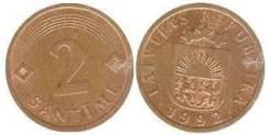Латвия 2 сантима, 1992