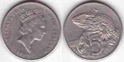 Новая Зеландия 5 центов, 1989