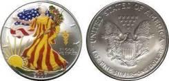 США 1 доллар 2007 Шагающая Свобода Цветная