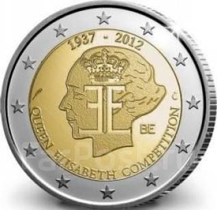 2 евро Бельгия 2012. 75 лет музыкальному конкурсу