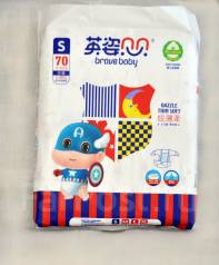 Подгузники премиум-класса Brave Baby из Южного Китая. 3-7 кг 70 шт