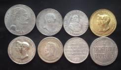 Копии дорогих царских рублей. 8 монет одним лотом! В наличии!