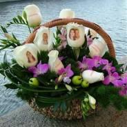 Живые цветы с фото и надписями! Актуальный подарок для любимых!