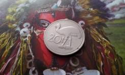 Папуа-Новая Гвинея. 20 тоа 1975 года. Казуар. Большая красивая монета!