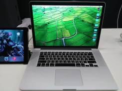 "Apple Macbook Pro 15 Retina. 15"", 2,4ГГц, ОЗУ 8192 МБ и больше, диск 256 Гб, WiFi, Bluetooth, аккумулятор на 7 ч."