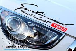 Оракал на кузов Sports mind Racing Development TRD, черно-красный. Toyota Sports