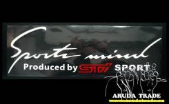 Оракал на кузов Sports mind by STI, бело-красный (50х15см). Subaru Stella