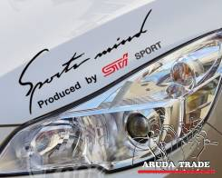 Оракал на кузов Sports mind by STI, черно-красный (50х15см). Subaru Stella