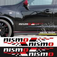 Оракал на кузов Nismo парные, бело-красные - 2шт. Nissan