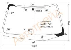 Стекло лобовое в клей HONDA LEGEND 96-04 4D XYG KA9L1LFWX