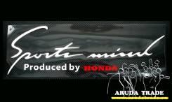 Оракал на кузов Sports mind by Honda, бело-красный (50х15см). Mini