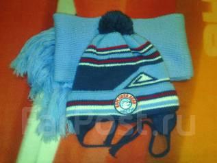 Шапка и шарф. Рост: 60-68, 68-74 см