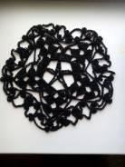 Салфетка ручной работы черная