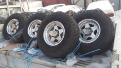 Продам колёса Raguna на грязи Yokohama TLC/ SURF/Prado/Pajero и др. 8.0x16 6x139.70 ET0 ЦО 108,0мм.