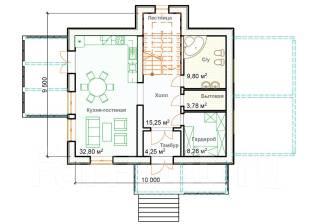 037 Zz Двухэтажный дом в Тернейском районе. 100-200 кв. м., 2 этажа, 4 комнаты, бетон