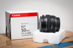 Портретник Canon EF 50mm f/1.4 USM. Для Canon, диаметр фильтра 58 мм