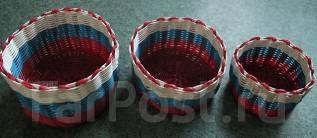 Набор плетенных корзиночек 3 шт одним лотом