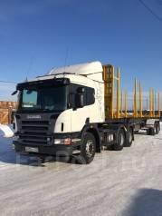 Scania. Продаю сцепку тягач P420 6x4 и сортиментовоз новосибарз, 12 000 куб. см., 33 500 кг.