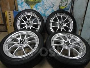 Продам Крутые Стильные колёса WORK VS+Лето ЖИР 215/45R17Toyota, Subaru. 7.5x17 5x100.00 ET54