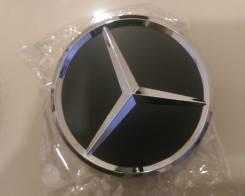 """Комплект колпаков Mercedes черные 75мм. Диаметр Диаметр: 17"""", 1 шт."""
