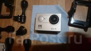 Экшен камера 4К Wi-Fi + мега комплект ништяков с рубля. 10 - 14.9 Мп, с объективом
