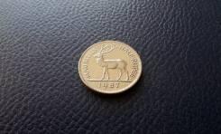 Маврикий. Половина рупии 1987 года. Олень.