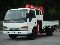 Isuzu Elf. , 3х тонный борт-кран, стрела 2 тонны, колёса на 6 шпилек, 4 300 куб. см., 3 000 кг. Под заказ