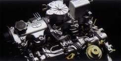 Двигатель. Toyota Corolla, CE100 Toyota Sprinter, CE100 Двигатель 2CIII