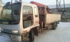 Isuzu Forward. Продается грузовой автомобиль бортовой с манипулятором, 7 127 куб. см., 7 890 кг.