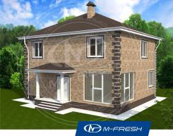 M-fresh Candy hall (Проект дома с угловым витражом! ). 200-300 кв. м., 2 этажа, 6 комнат, бетон