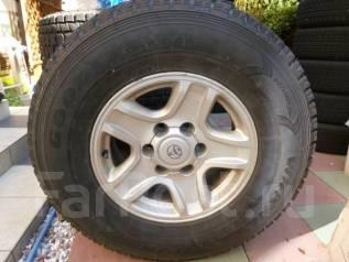 Почти без износа Goodyear Wrangler 265/70/16 литье Prado 15/7/16. 7.0x16 6x139.70 ET15