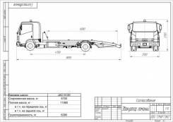 JAC N120. JAC эвакуатор г/п 6,2т, 3 800 куб. см., 6 200 кг. Под заказ
