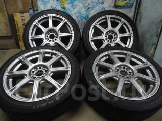 Продам Супер Крутые колёса Work Emotion XC8+Лето215/45R17Toyota, Subaru. 7.0x17 5x100.00 ET49
