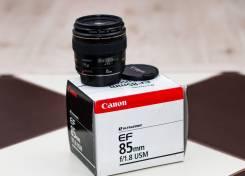 Продам портретный объектив Canon EF 85 mm f 1.8 USM новый. Для Canon, диаметр фильтра 58 мм